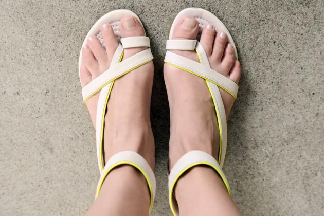 neue Schuhe neongelb